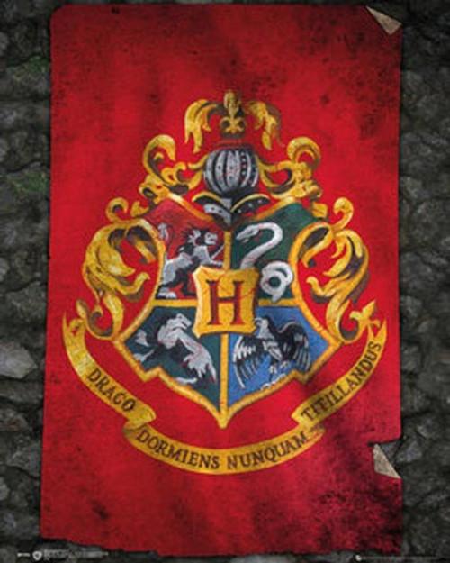 Harry Potter - Hogwarts Flag-Mini Poster-Laminated available-50cm x 40cm-Brand New-MP1992