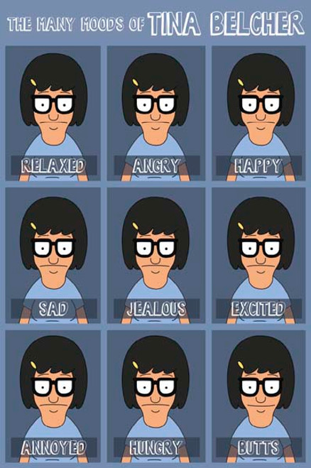 Bob's Burgers - Moods Of Tina-Poster-Laminated available-91cm x 61cm-Brand New-PAS1023