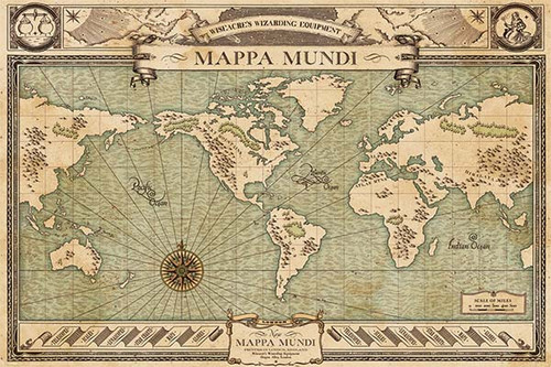 Fantastic Beasts - Mappa Mundi-Poster-Laminated available-91cm x 61cm-Brand New-PP33892