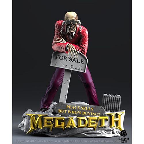 "Megadeth - Vic Rattlehead ""Peace Sells"" Rock Iconz Statue-KNUMGDVIC100"
