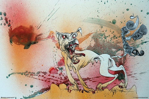 Ralph Steadman - Raging Bitch-Poster-Laminated available-91cm x 61cm-Brand New-PSA011300