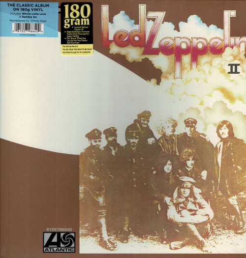 LED ZEPPELIN-Led Zeppelin II (180 Gram) Vinyl LP-Brand New-Still Sealed