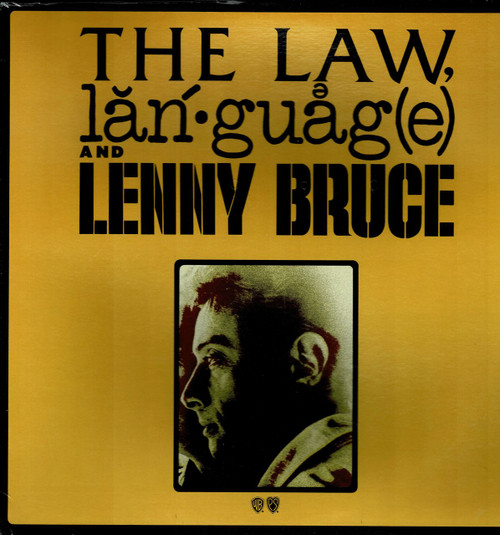 LENNY BRUCE-The Law Language And Lenny Bruce Vinyl LP-Brand New-Still Sealed