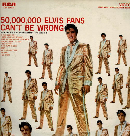 ELVIS PRESLEY-50,000 Elvis fans can't be wrong  Vinyl LP-Used