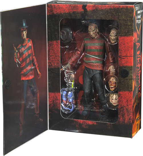 "A Nightmare on Elm St - 7"" Freddy 30th Anniversary Action Figure-NEC39759"