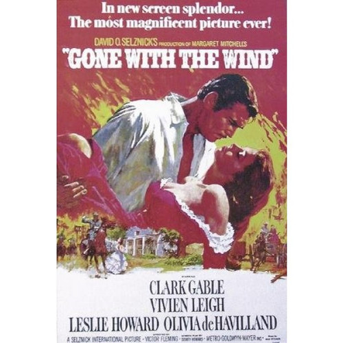 Gone with the Wind-movie sheet-Poster 70cm x 100cm-LAMINATED Available-P218