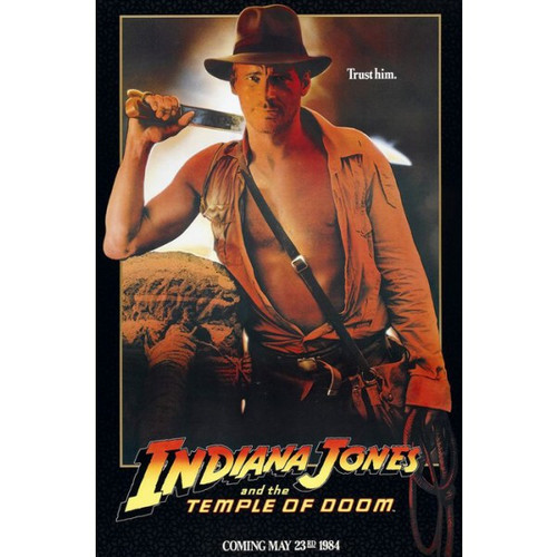 Indiana Jones and the Temple of Doom-Advance Style-Poster 70cm x 100cm-LAMINATED Available-P256