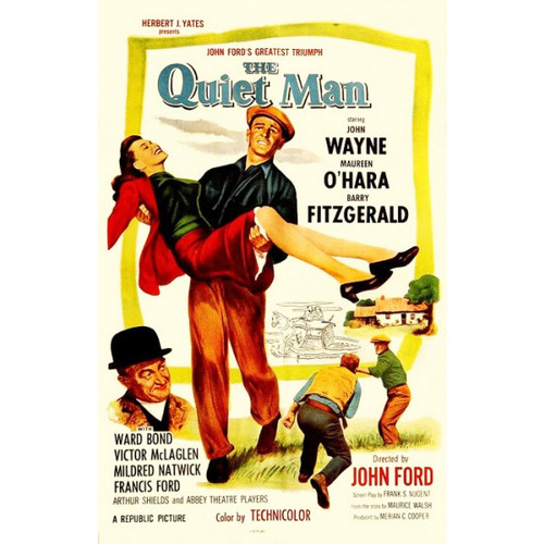 The Quiet Man (John Wayne)-movie sheet-Poster 70cm x 100cm-LAMINATED Available-P1085