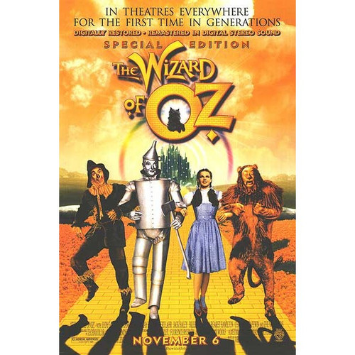 The Wizard of Oz-movie sheet-Poster 70cm x 100cm-LAMINATED Available-P995