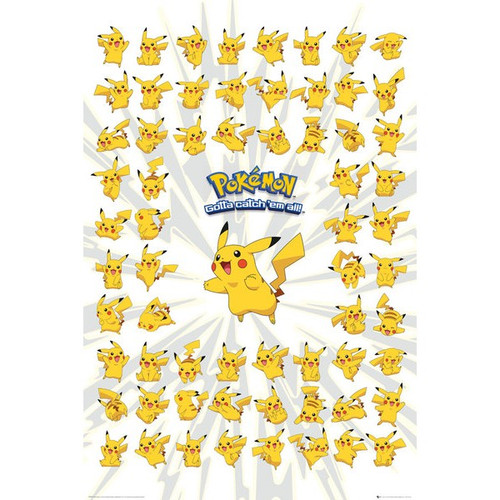 Pokemon-Many Pikachus-Poster 61cm x 91cm-LAMINATED Available-P5047