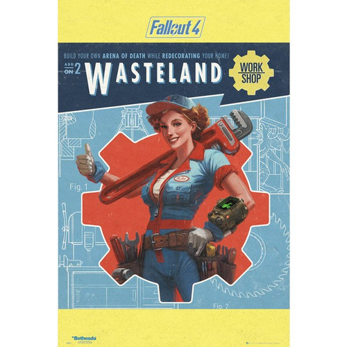 Fallout 4-Wasteland-Poster 61cm x 91cm-LAMINATED Available-P5148