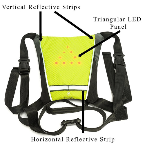 Soltekk-USB Rechargeable Flash LED Reflective Vest-Cycling-Camping-Hiking-Safety-Lights