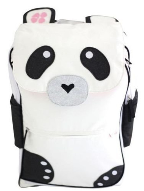 Panda Pack-n-Sack Pals Travel Backpack for Kids w/ Blanket & Pillow-Warm Milk-RRP $159