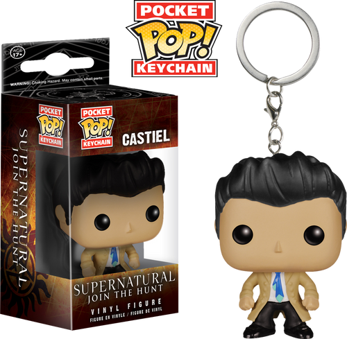 Supernatural - Castiel Pocket Pop! Keychain