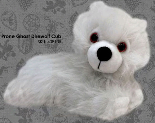 Game of Thrones - Ghost Direwolf Cub Prone Plush-FAC408105