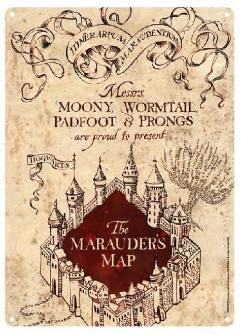 Harry Potter - Marauders Map Small Tin Sign-21cm x 15cm-HMBSSA5HP17
