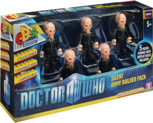 Doctor Who - Character Building Silence 5 Figure Pack-CHA04286