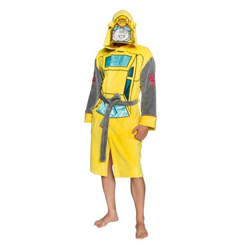 Transformers Bumblebee Hooded Adjustable Bath Robe-Brand New