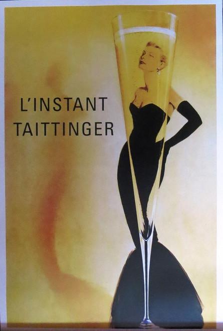 L'Instant Taittinger-Vintage Advertising- Poster-Laminated available-90cm x 60cm-Brand New