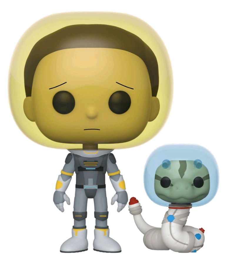 Vinyl-FUN45435-FUNKO Rick and Morty Morty Space Suit with Snake Pop