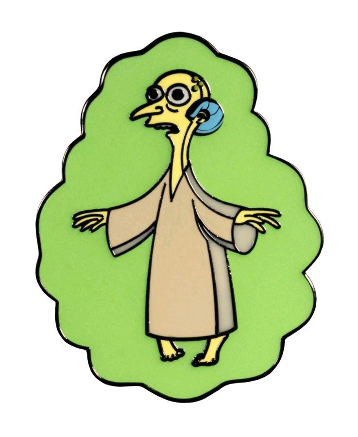 Mr Burns Alien Glow in the Dark Enamel Pin-IKO1466-IKON COLLEC... The Simpsons