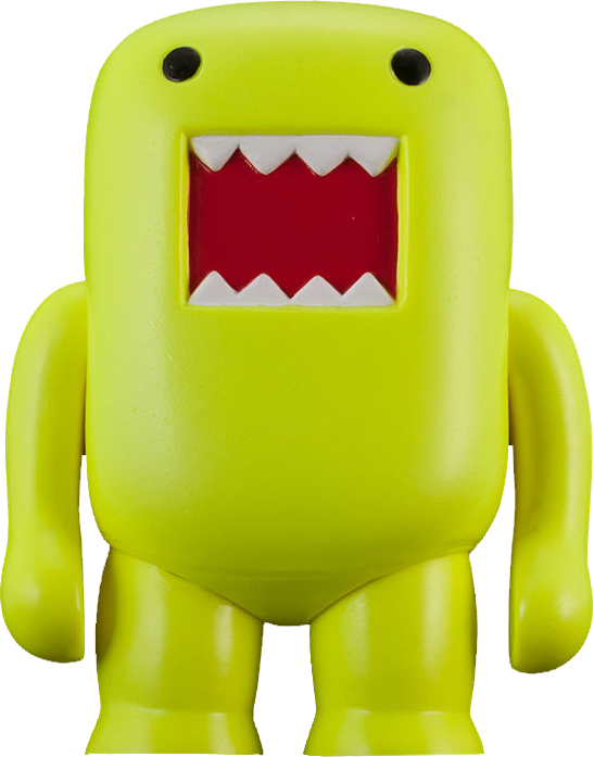 "Domo Black Light Green 4/"" Vinyl Figure"