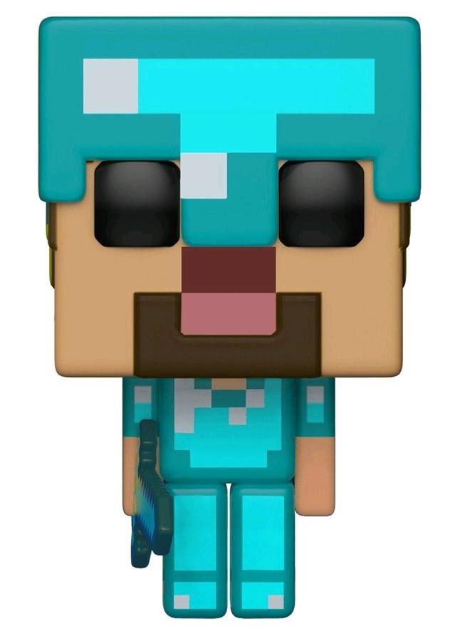 Details About Minecraft Steve In Diamond Armor Us Exclusive Pop Vinyl Rs Fun26416