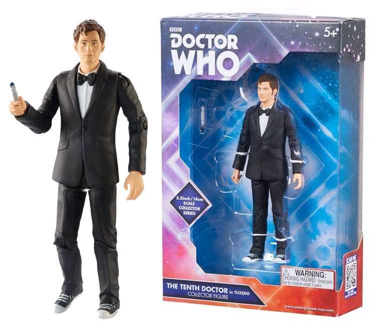 "Doctor Who TENTH Dr in BLUE SUIT NEW 3.75/"" 10th FIGURE Wave 3"