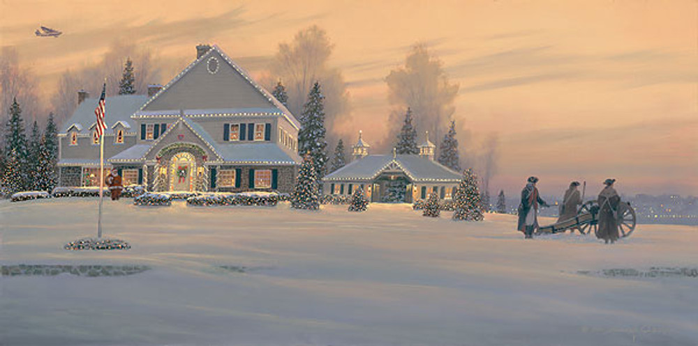 Christmas Traditions at Watchman Hill Inn, William S. Phillips LIMITED EDITION CANVAS