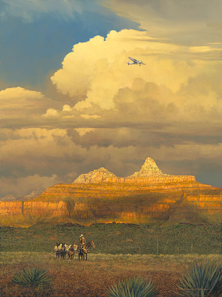 New Sounds in an Ancient Canyon, William S. Phillips LIMITED EDITION CANVAS