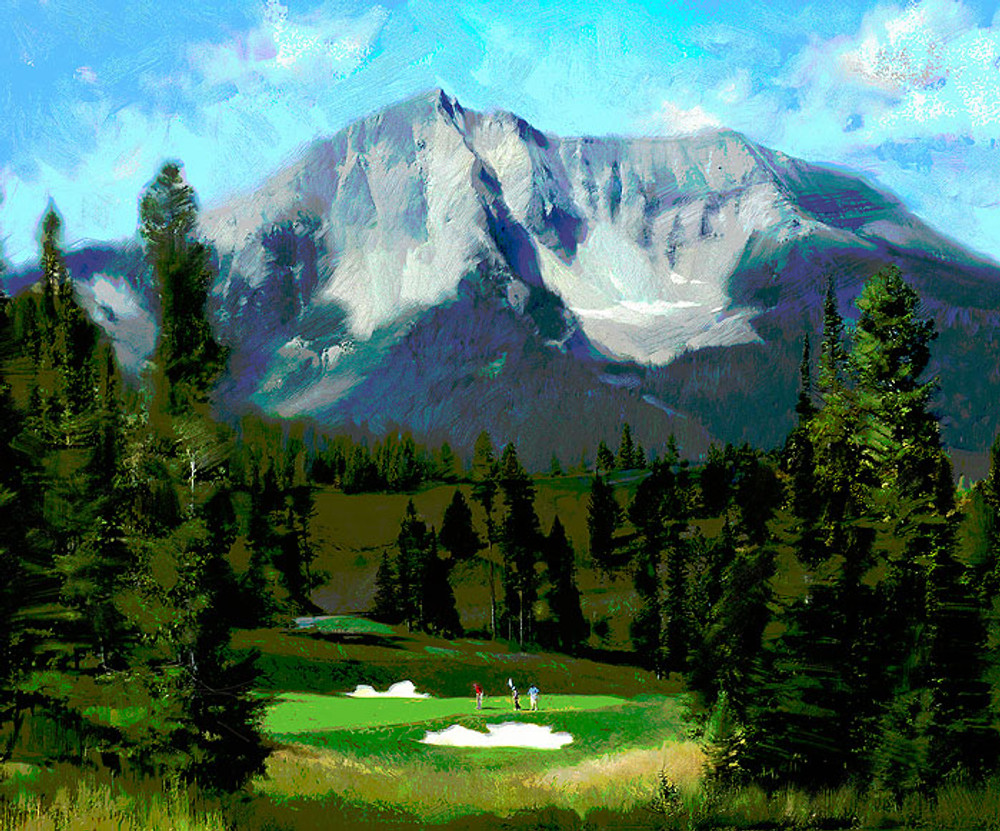16th Hole, Moonlight Basin, Big Sky, by R. Tom Gillion LIMITED EDITION CANVAS