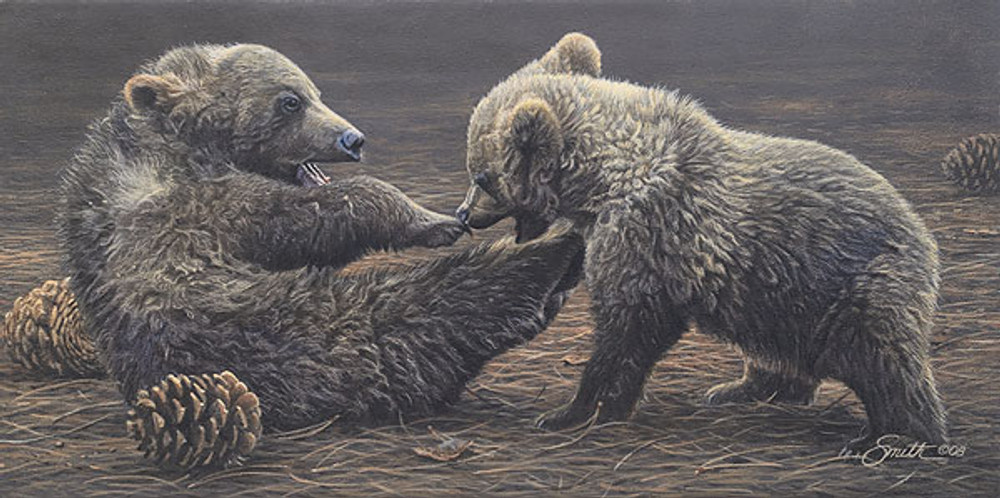 Brawlin´ Bruins, by Daniel Smith SMALLWORK CANVAS EDITION