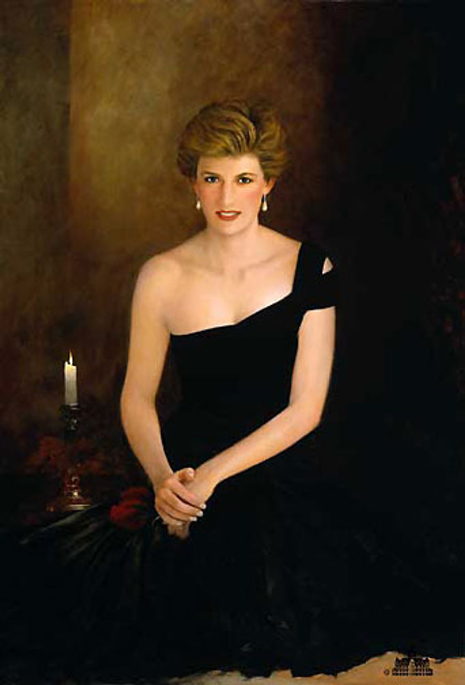 A Tribute, Princess Diana, Jeff Barson canvas limited edition
