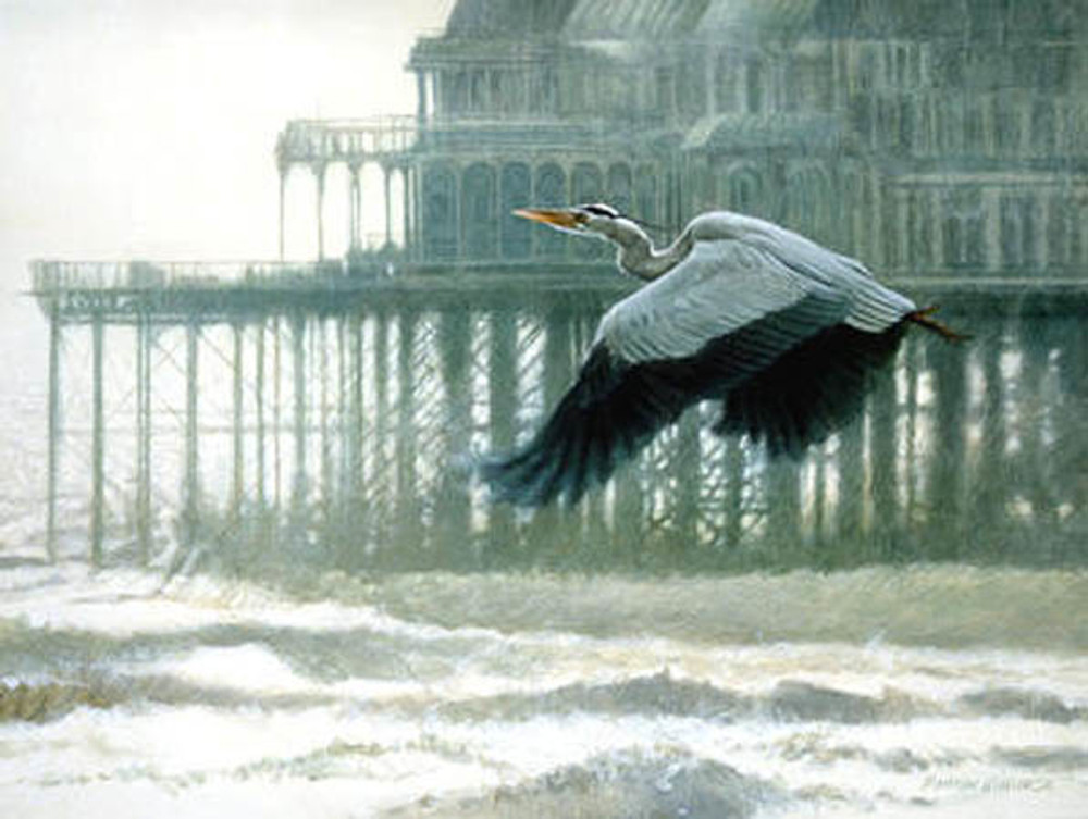 Misty Morning Heron