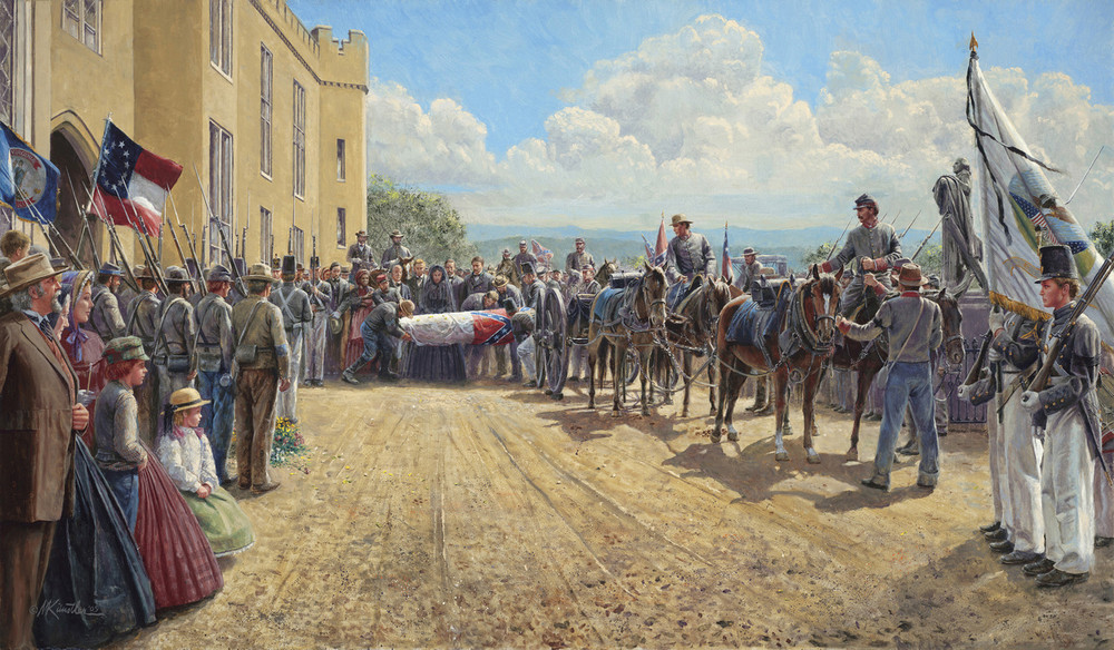 Last Tribute of Respect by Mort Kunstler - Classic Canvas