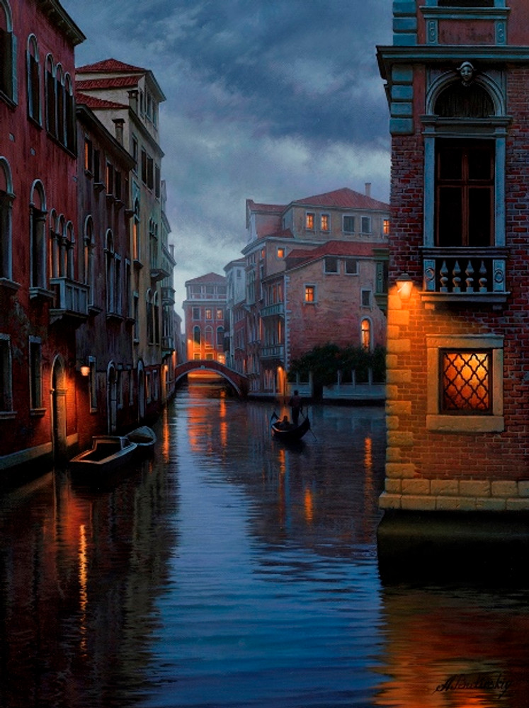 Venetian scene  by Butirskiy