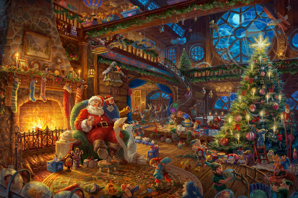 Santa's Workshop by Thomas Kinkade Studios