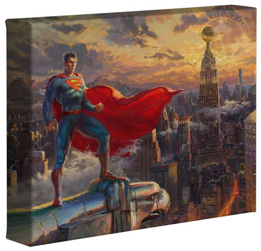 Superman – Protector of Metropolis – 8″ x 10″ Gallery Wrapped Canvas
