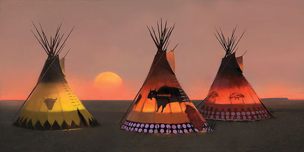 Indian Sunset II by R. Tom Gilleon