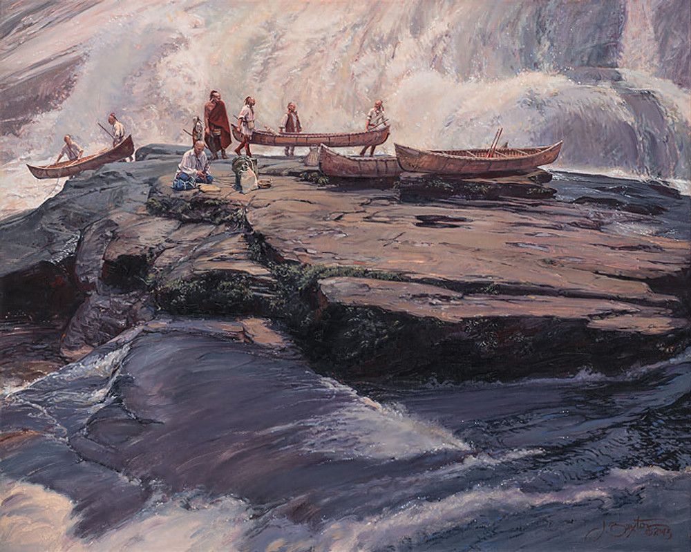 A Brief Delay At The Wall by John Buxton - 40x32 canvas