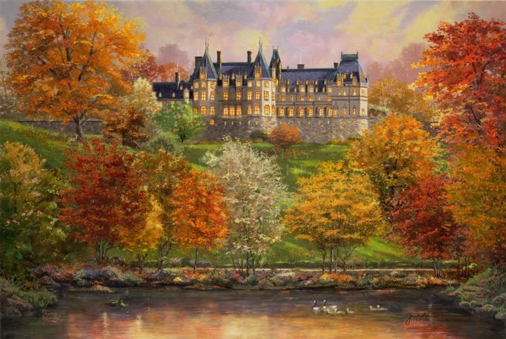 Biltmore in the Fall by Thomas Kinkade Studios - Framed