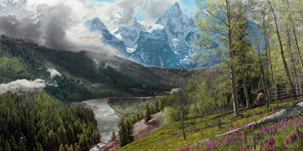 Tetons in the Spring Phillip Philbeck