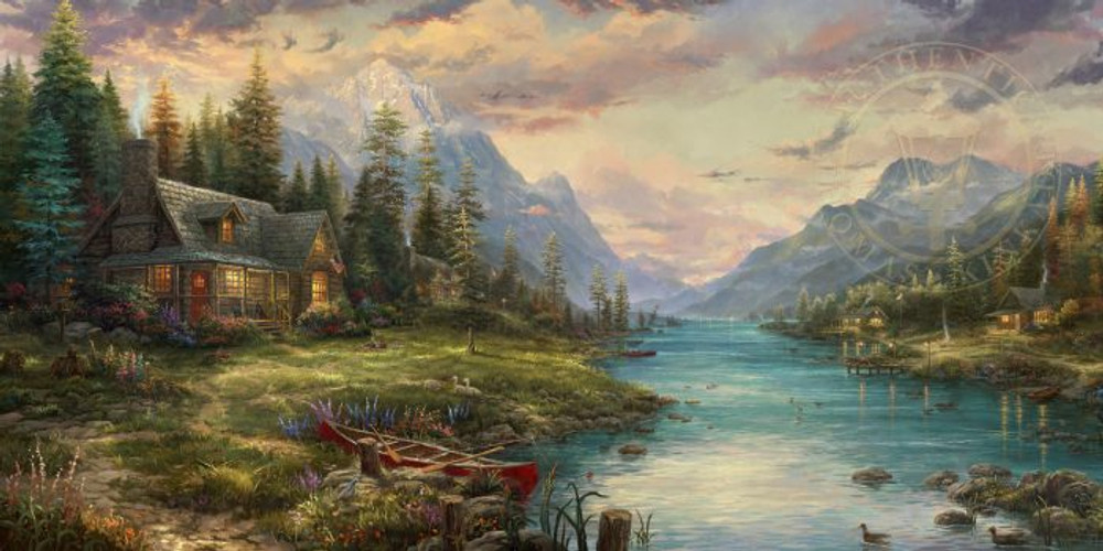 Father's Perfect Day by Thomas Kinkade - Framed