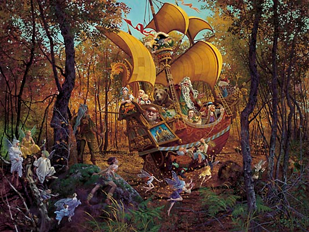 FLIGHT OF THE FABLEMAKER, James Christensen LIMITED EDITION PRINT