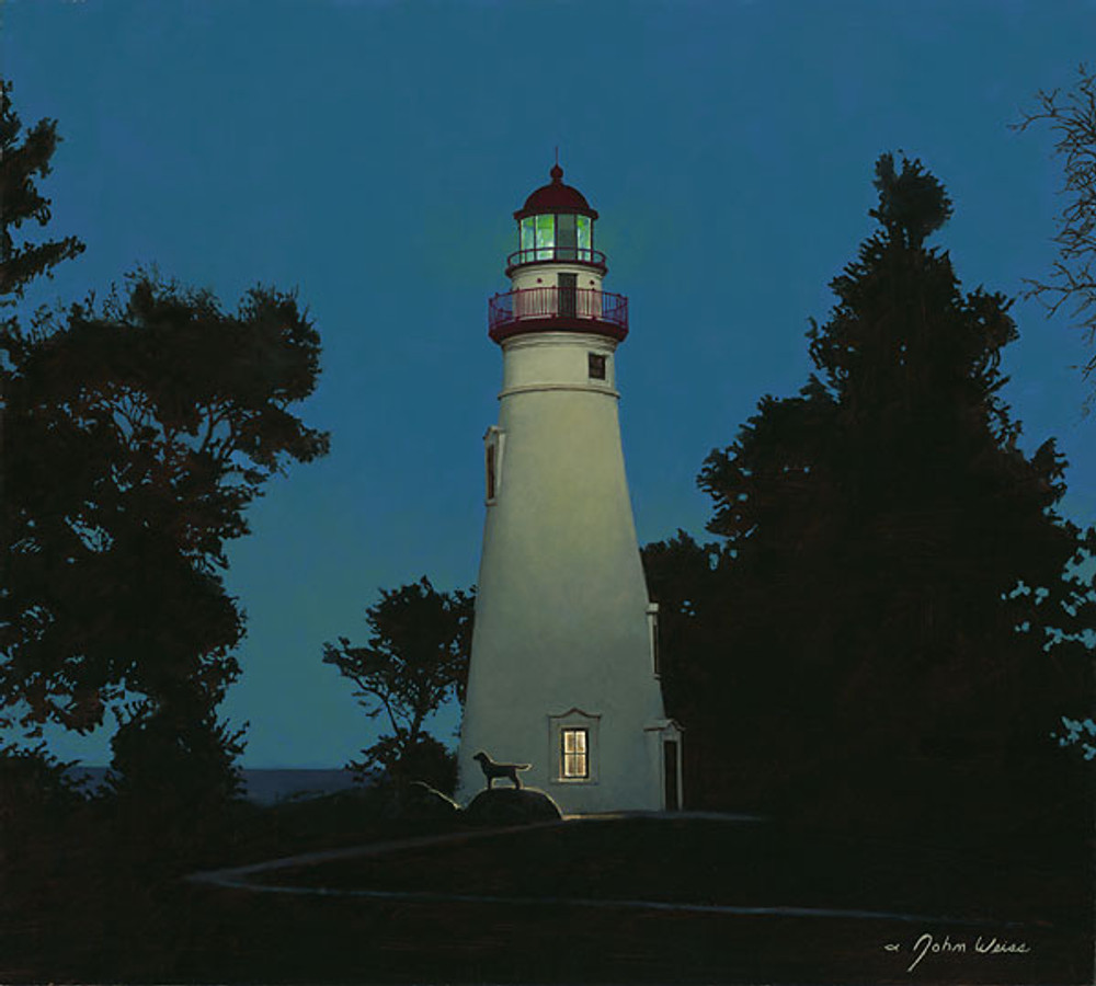 The Lighthouse Keeper, John Weiss LIMITED EDITION CANVAS