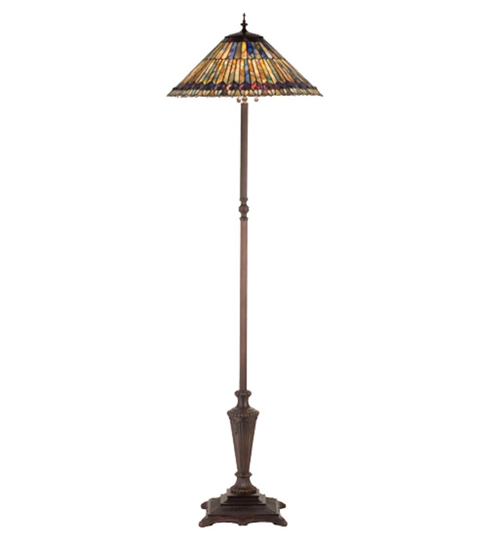 Tiffany Jeweled Peacock Tiffany Style Floor Lamp