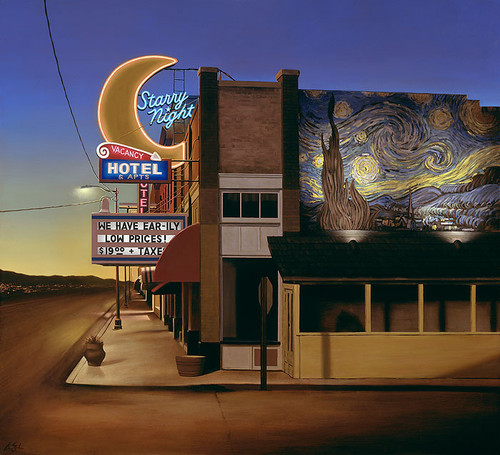 Starry Night Hotel, Ben Steele MASTERWORK CANVAS EDITION