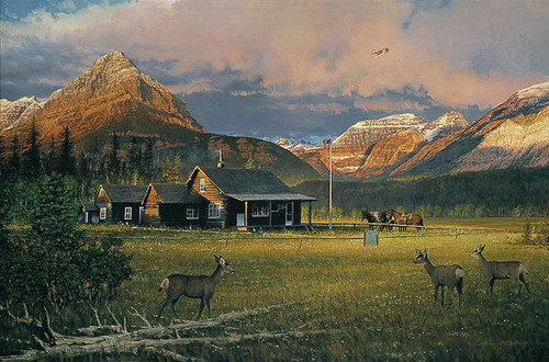 EARLY MORNING VISITORS, William S. Phillips LIMITED EDITION PRINT