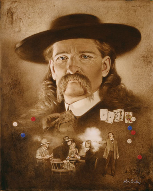 Wild Bill Hickok: The Premonition, by Don Crowley LIMITED EDITION CANVAS