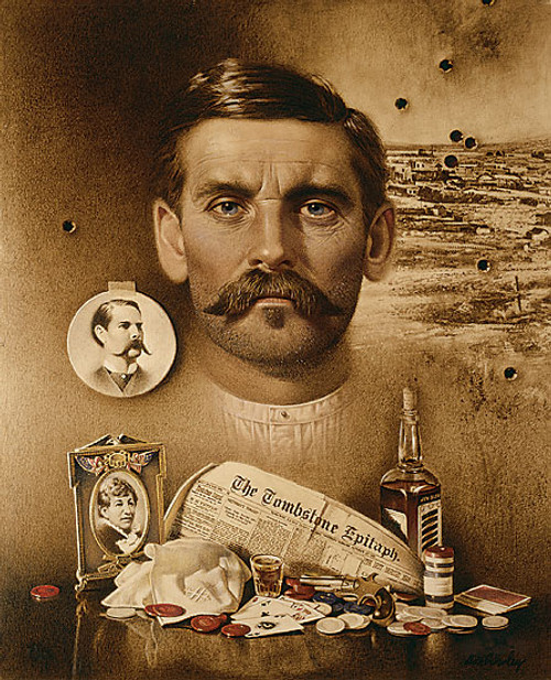 """Doc Holliday: """"Well I´ll be Damned!"""", by Don Crowley LIMITED EDITION CANVAS"""
